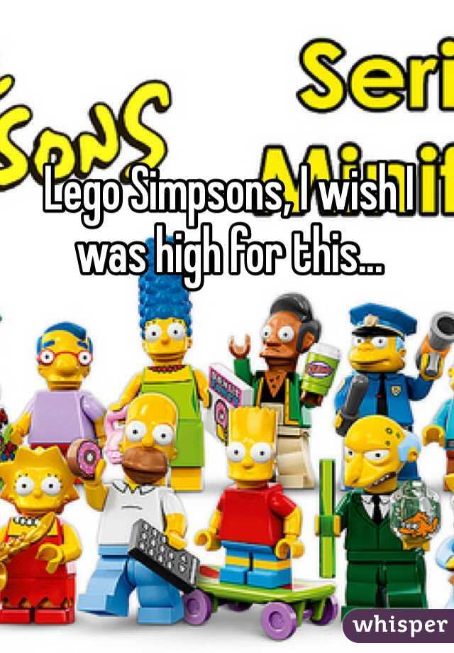 Lego Simpsons, I wish I was high for this...