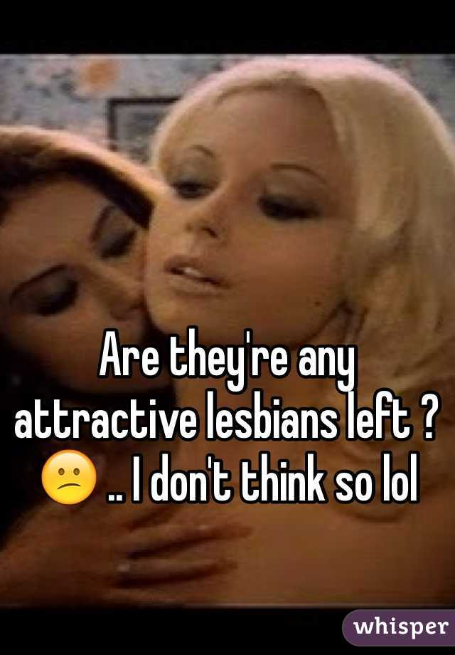 Are they're any attractive lesbians left ? 😕 .. I don't think so lol