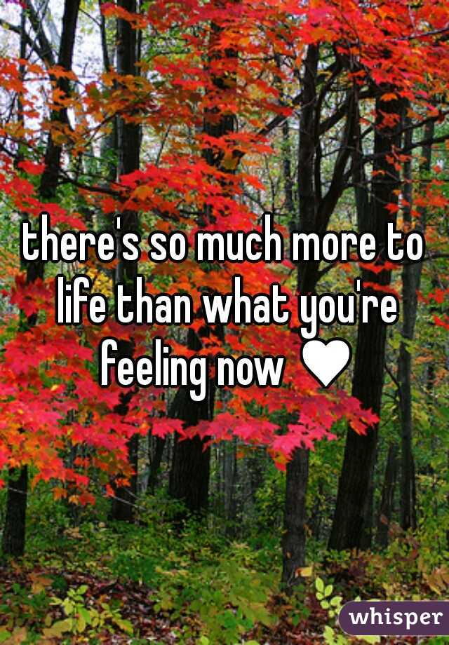 there's so much more to life than what you're feeling now ♥