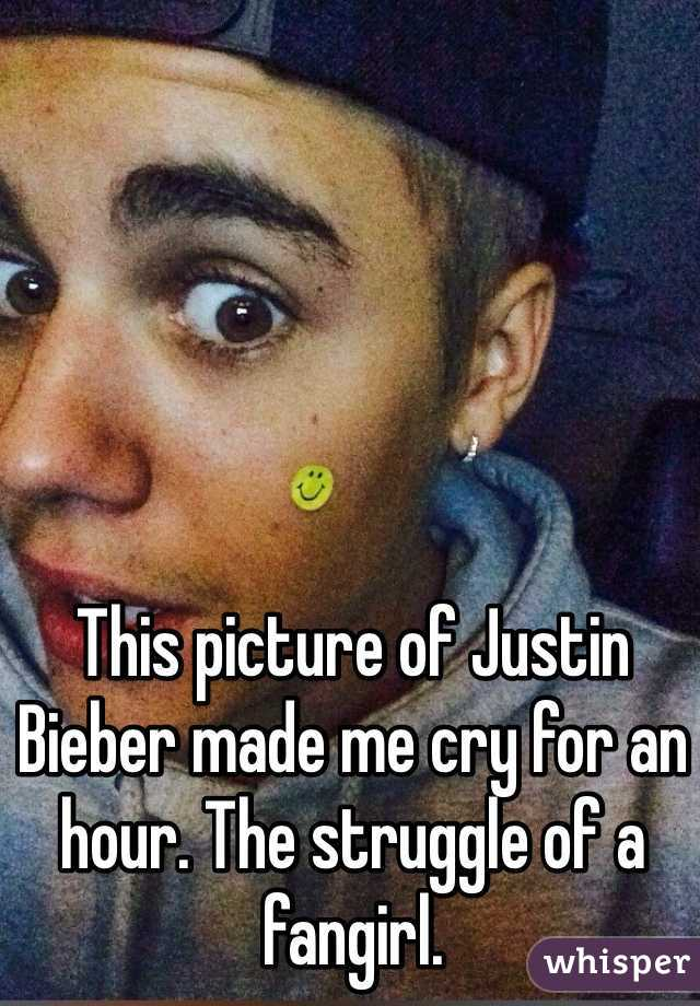 This picture of Justin Bieber made me cry for an hour. The struggle of a fangirl.