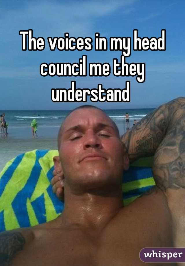 The voices in my head council me they understand