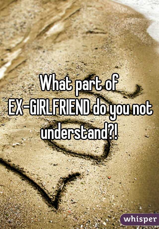 What part of EX-GIRLFRIEND do you not understand?!