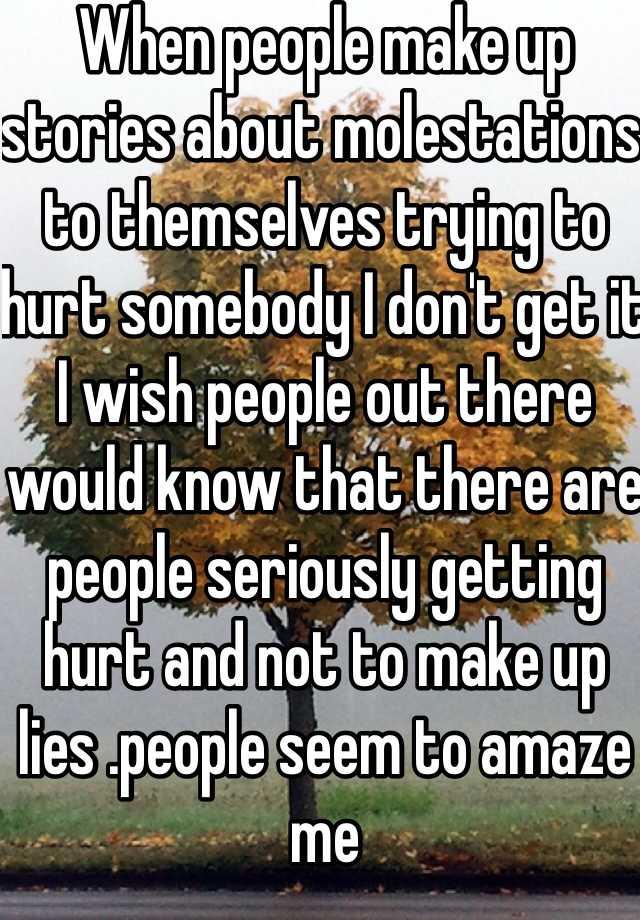 people who make up lies