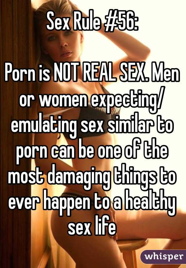 Porn is not real think