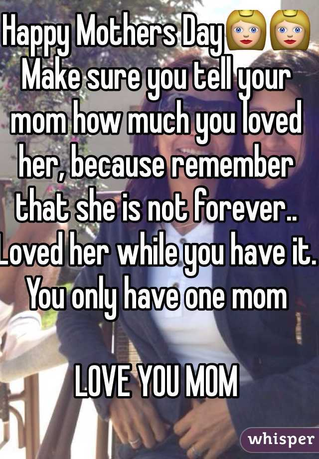 Happy Mothers Day👸👸 Make sure you tell your mom how much you loved her, because remember that she is not forever.. Loved her while you have it. You only have one mom  LOVE YOU MOM