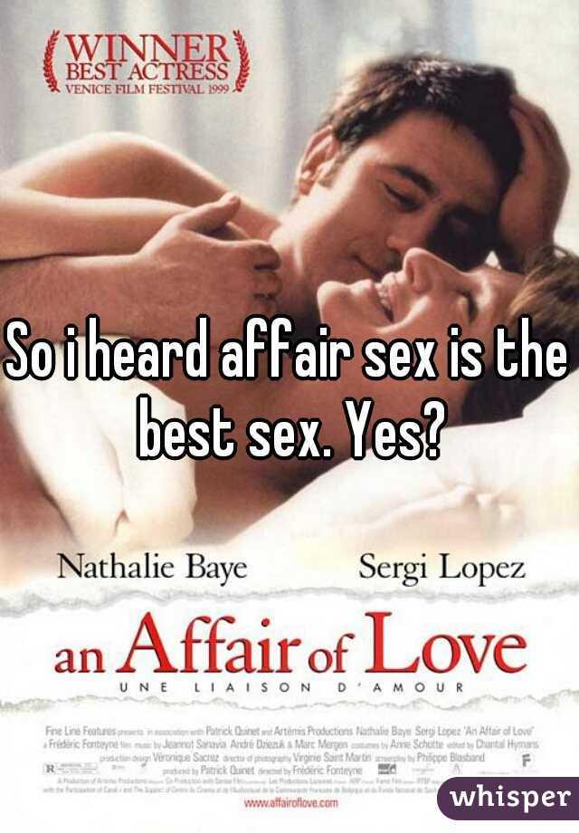 Best affair sex