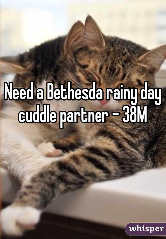 Need a Bethesda rainy day cuddle partner - 38M