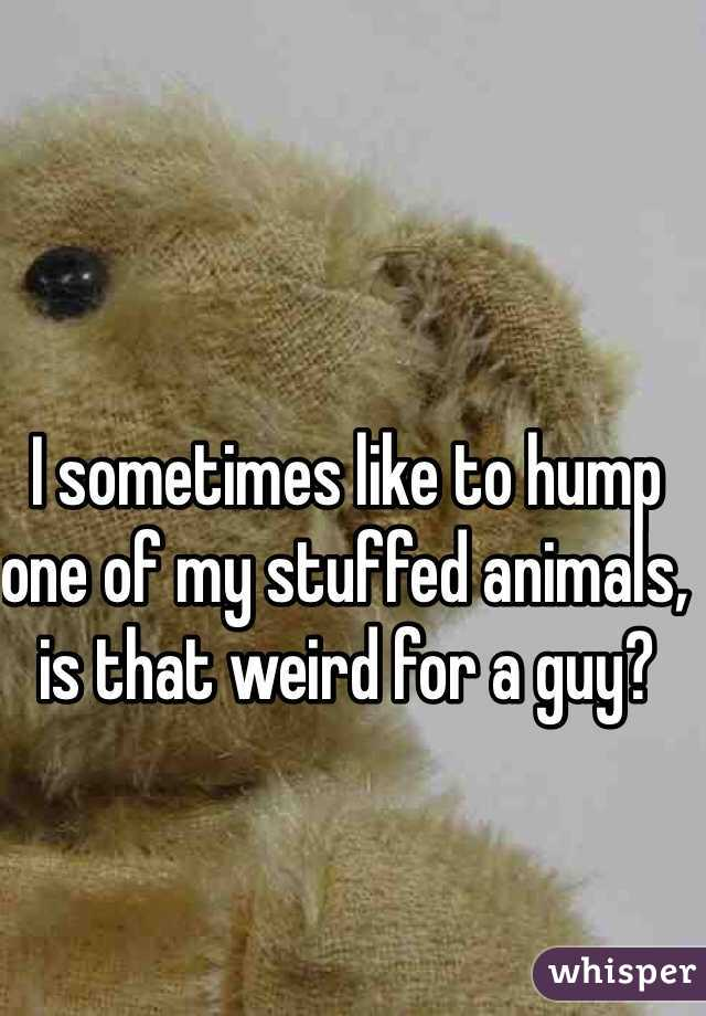 I sometimes like to hump one of my stuffed animals, is that weird for a guy?