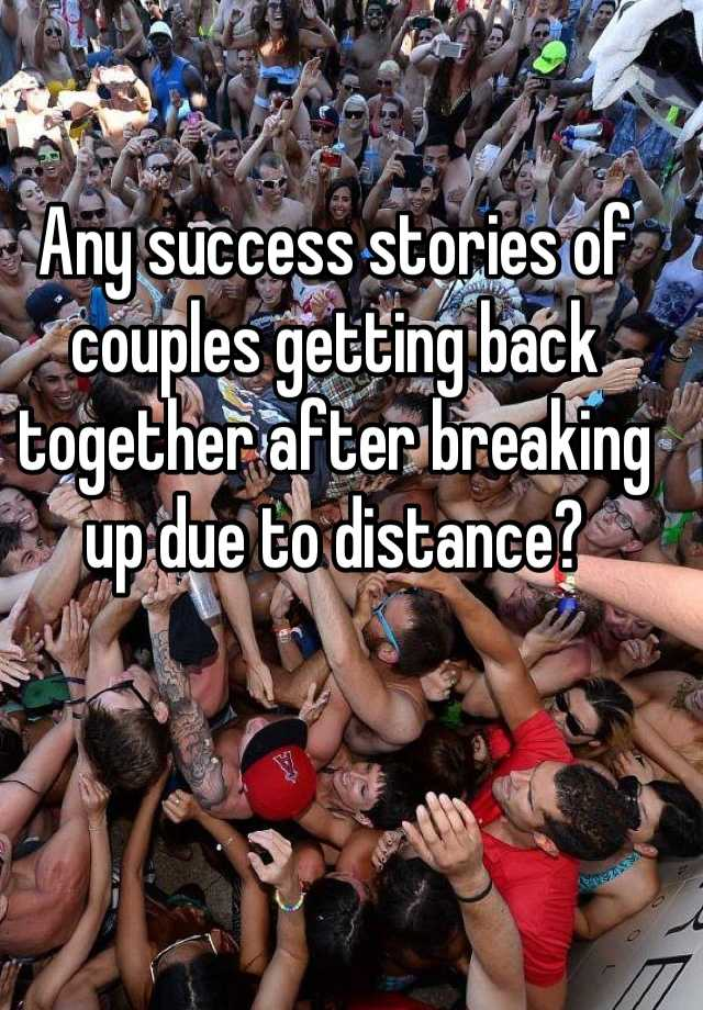 Stories about couples getting back together