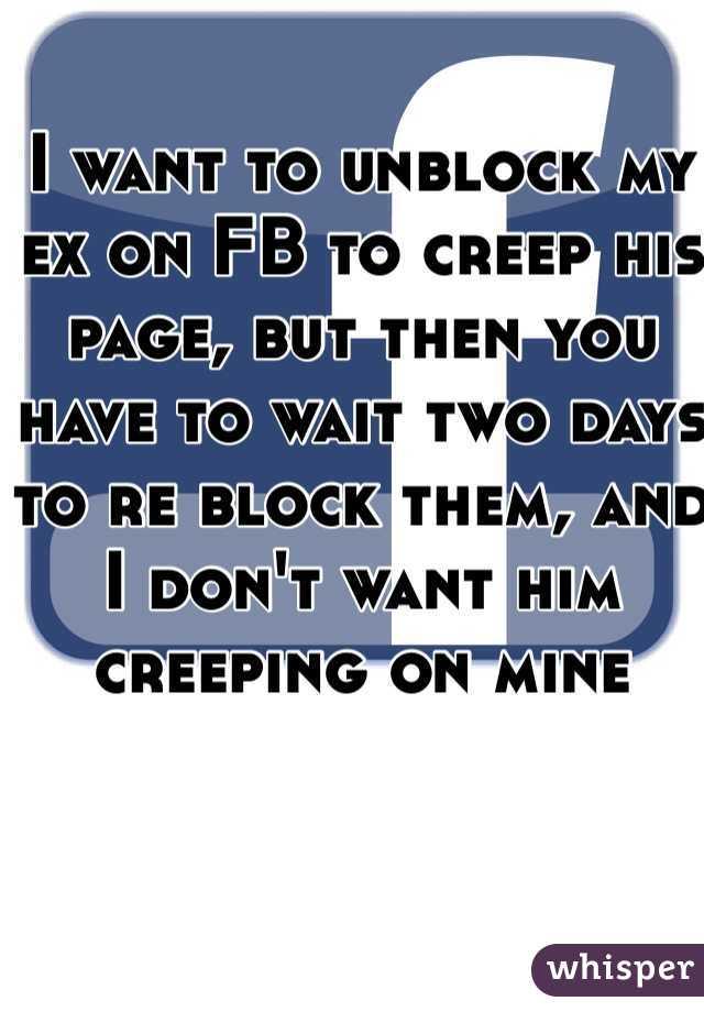 Will my ex unblock me