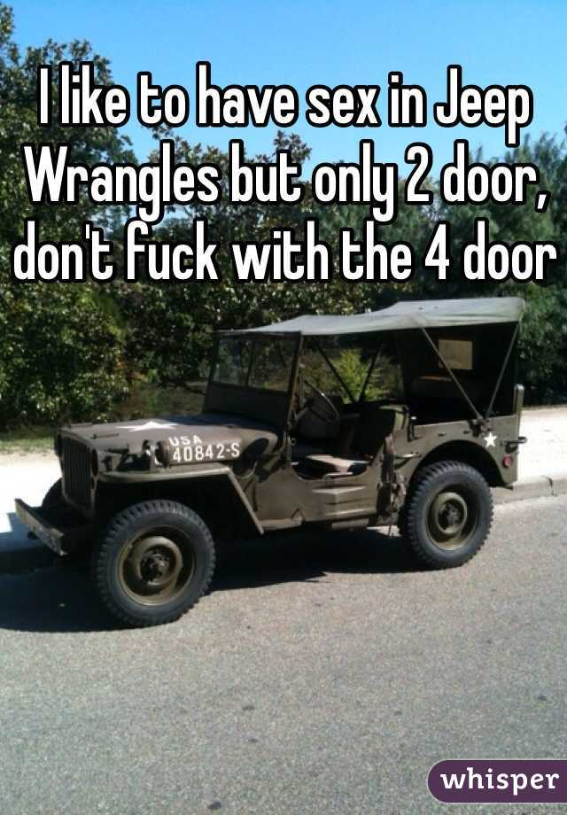 Only in a jeep sex