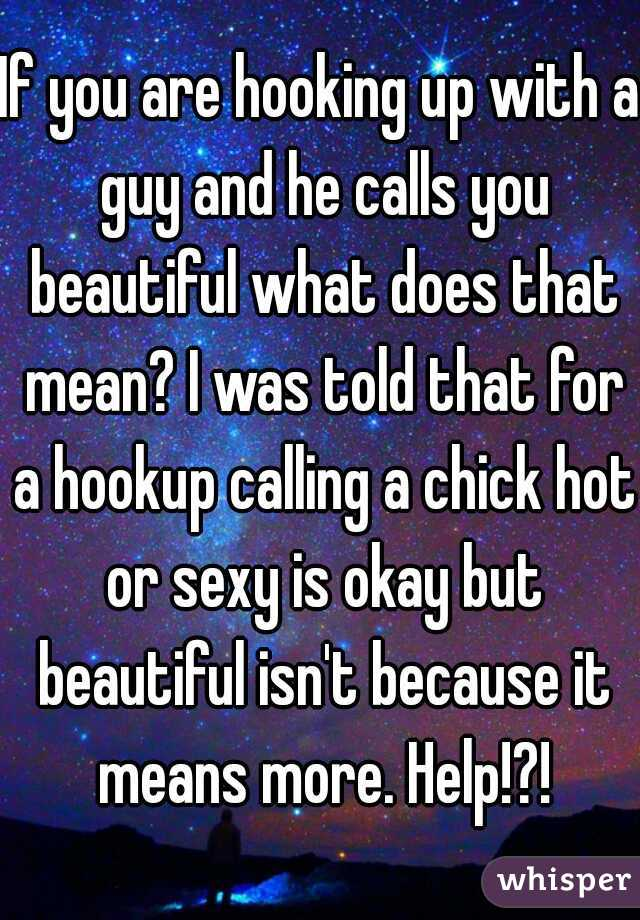 What does the saying hook up mean