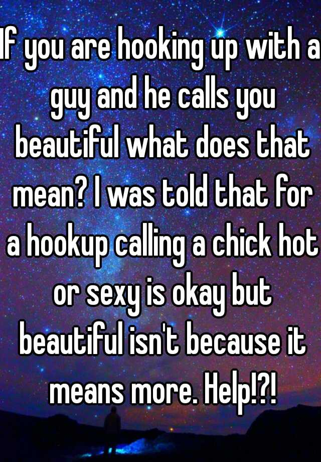 What Does Mean Hook Up With A Guy