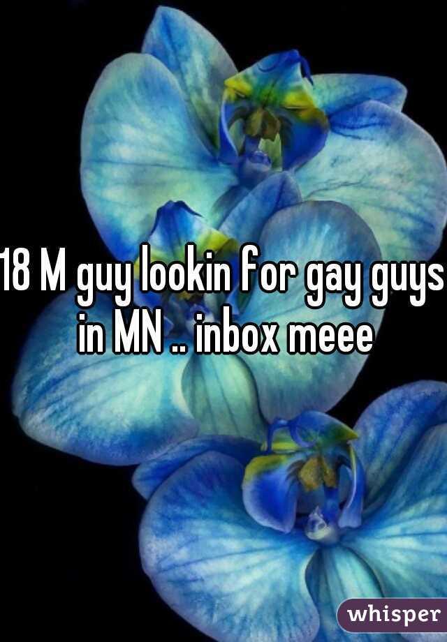 18 M guy lookin for gay guys in MN .. inbox meee
