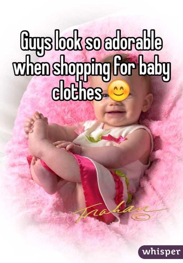 Guys look so adorable when shopping for baby clothes 😊