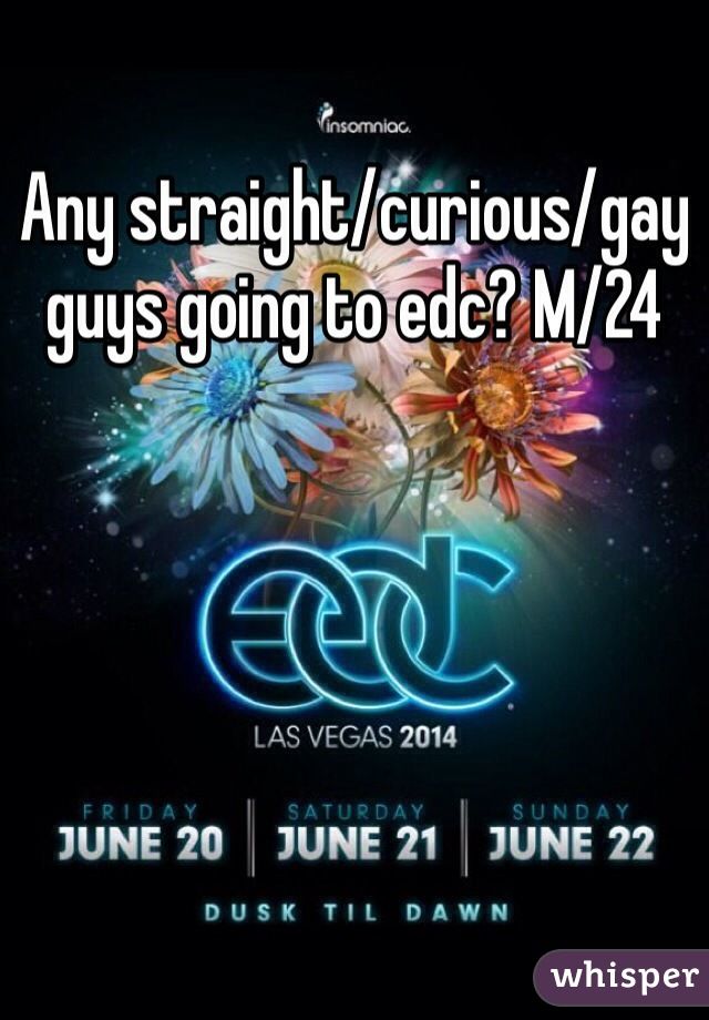 Any straight/curious/gay guys going to edc? M/24
