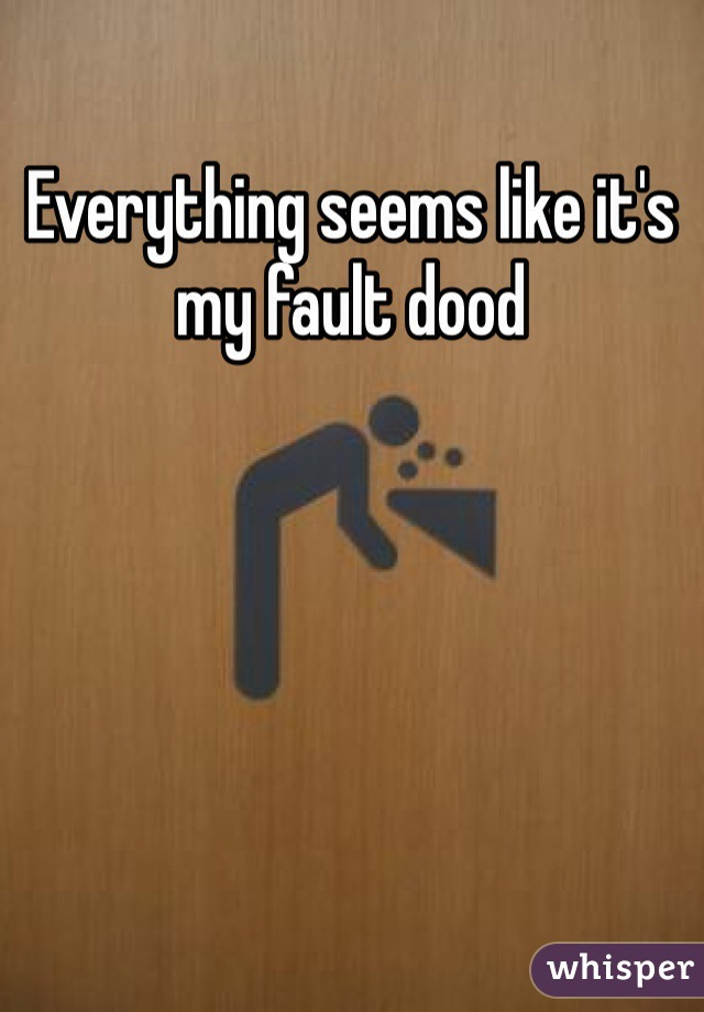 Everything seems like it's my fault dood