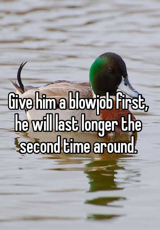 how last longer in a blowjob