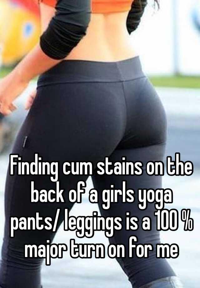 cum on her leggings