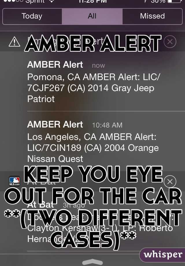 AMBER ALERT       KEEP YOU EYE OUT FOR THE CAR **(TWO DIFFERENT CASES)**