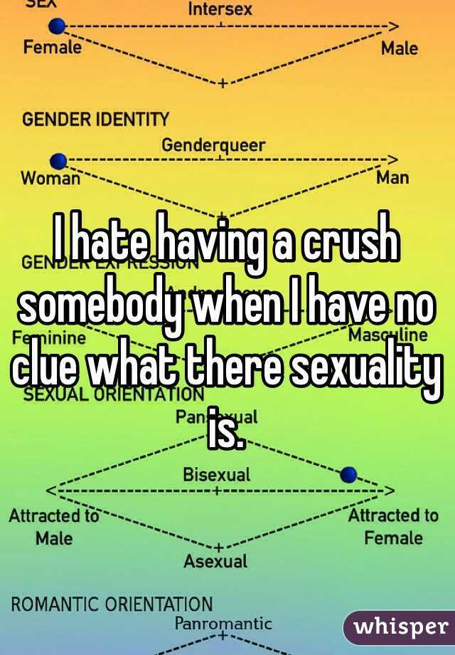 I hate having a crush somebody when I have no clue what there sexuality is.