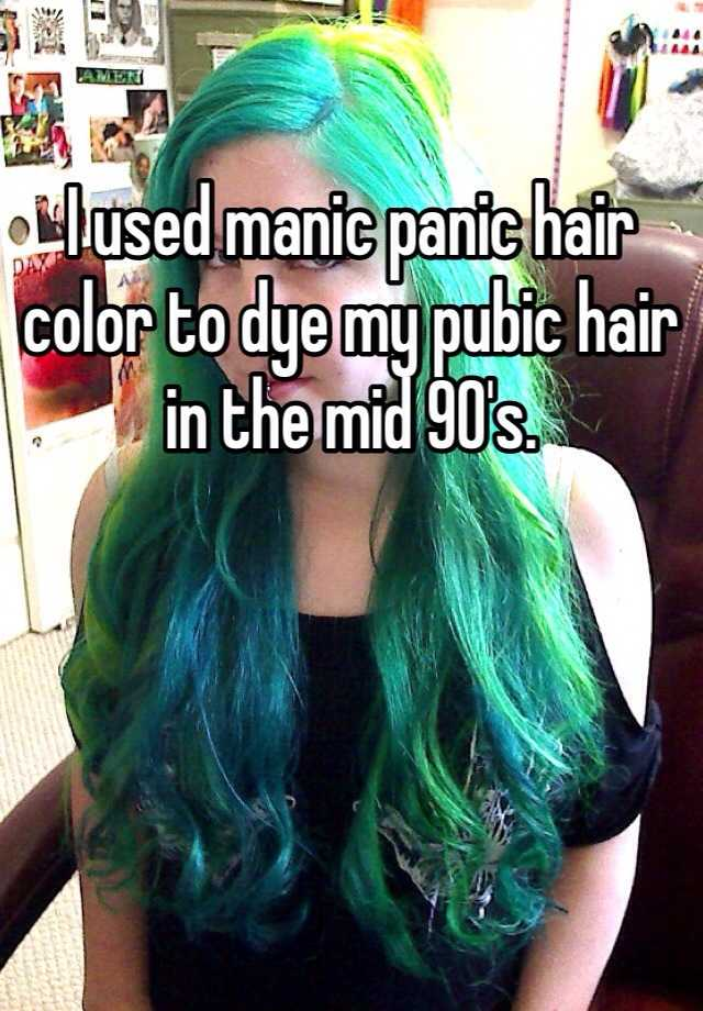I used manic panic hair color to dye my pubic hair in the mid 90\'s.