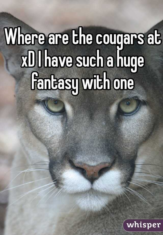 Where are the cougars at xD I have such a huge fantasy with one