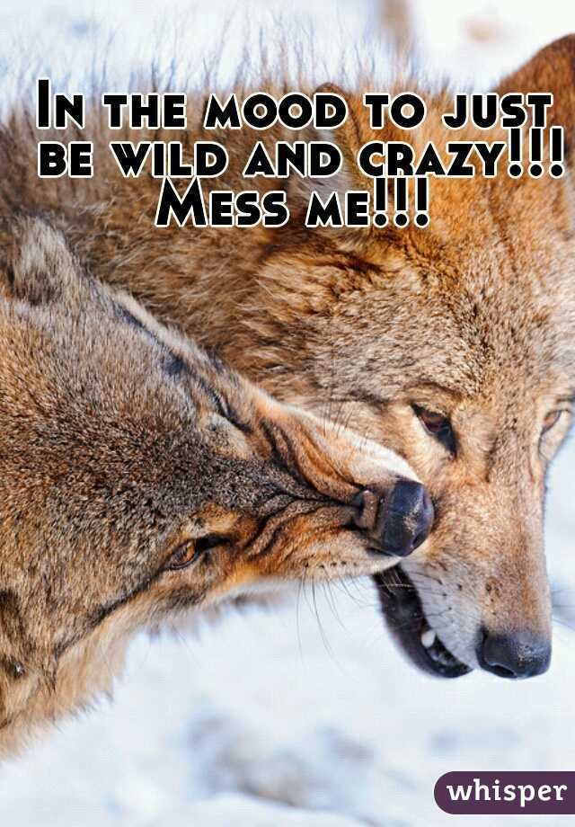 In the mood to just be wild and crazy!!! Mess me!!!