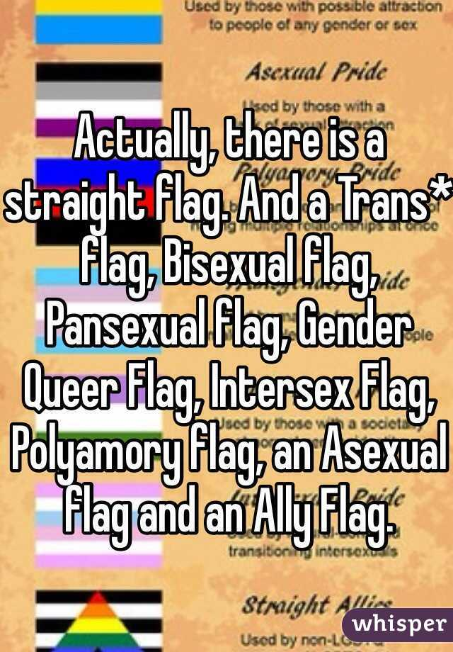 Actually, there is a straight flag  And a Trans* flag