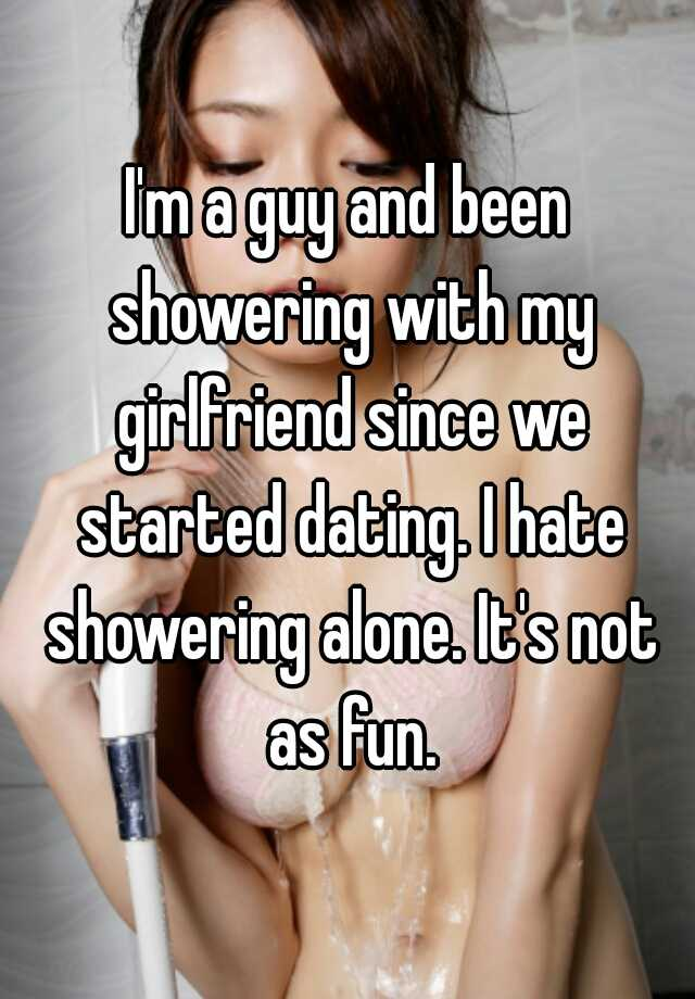 Taking a shower with girlfriend