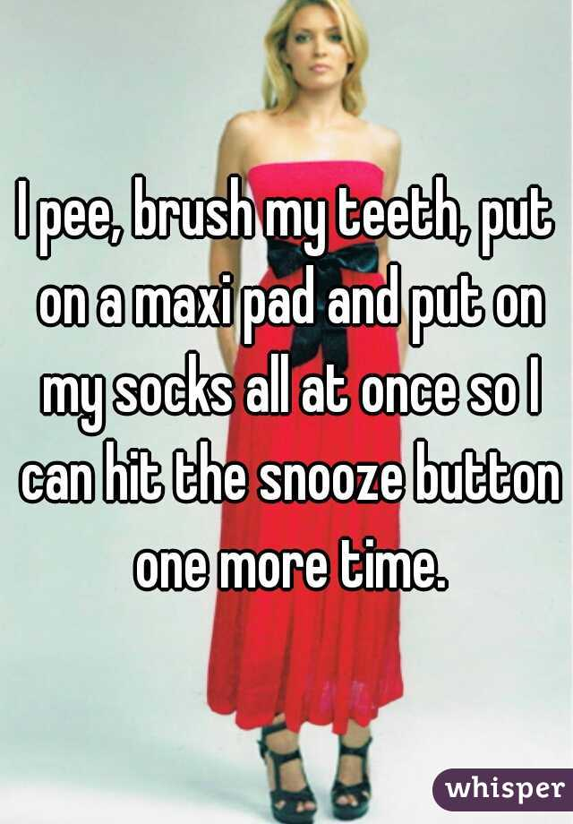 Pee on a maxi pad