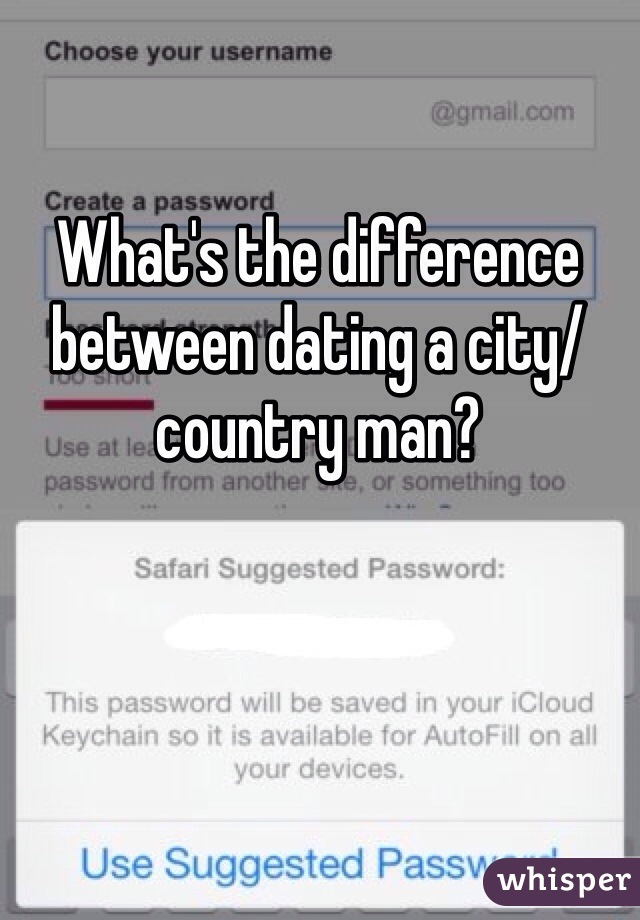Dating a country man