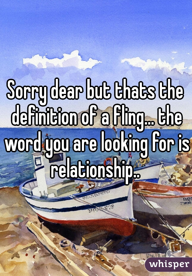 what does fling mean in relationship