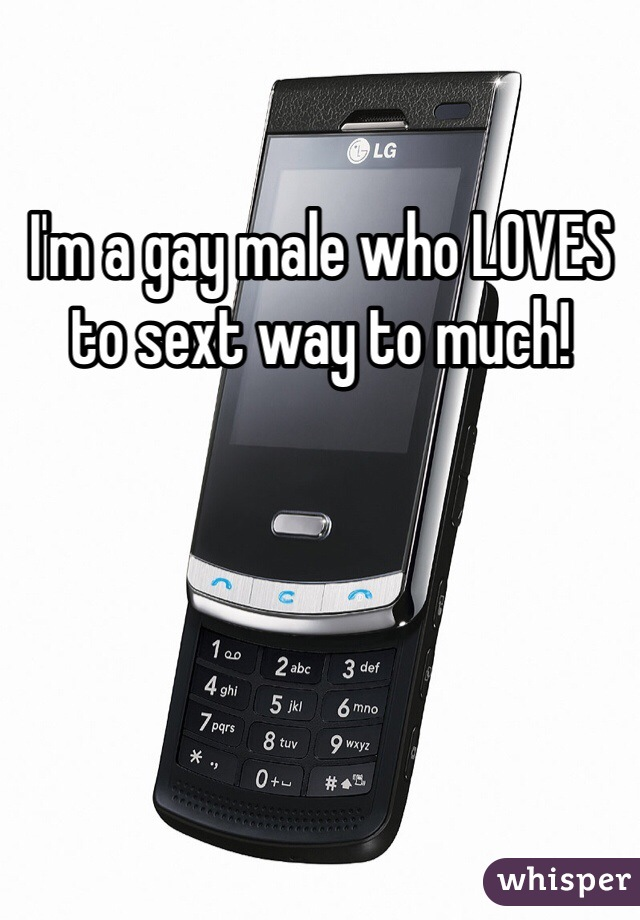 I'm a gay male who LOVES to sext way to much!