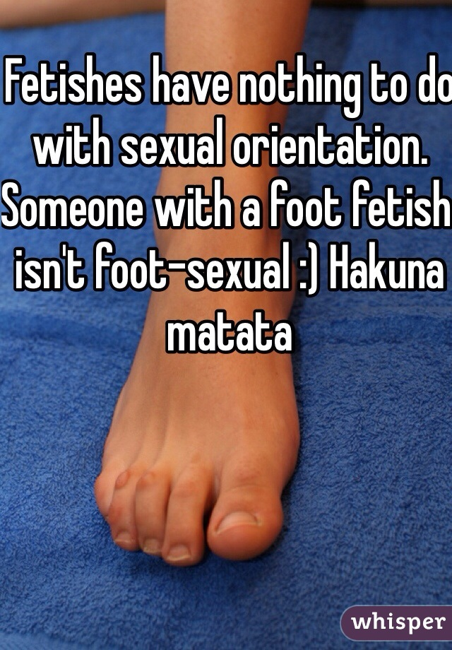 what to do with a foot fetish