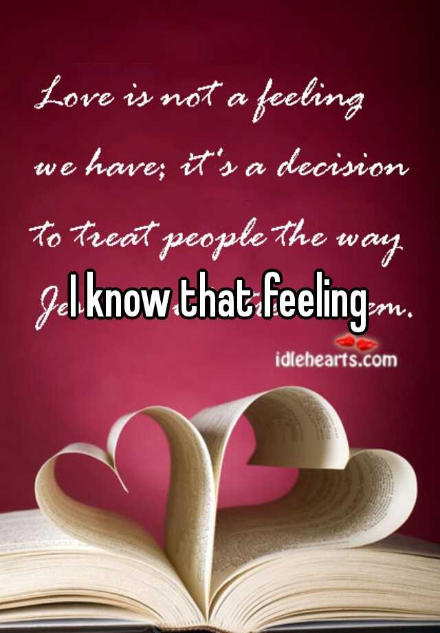love and feeling