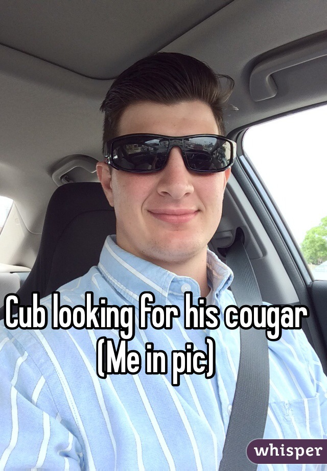 Cub looking for his cougar (Me in pic)