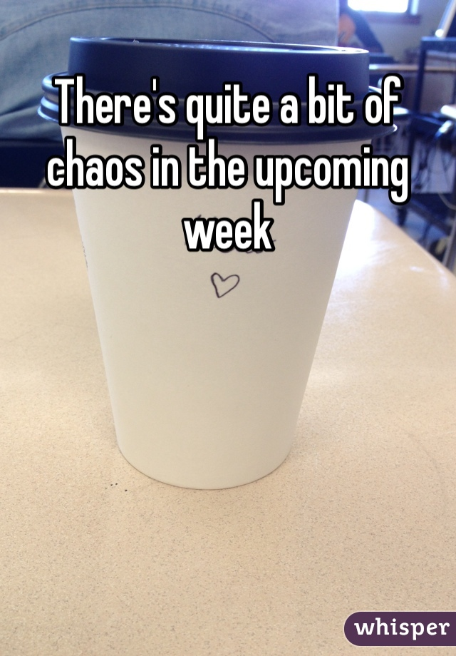 There's quite a bit of chaos in the upcoming week