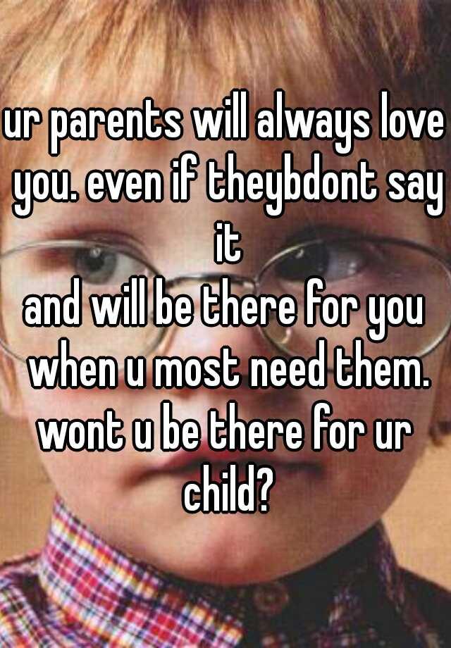 love ur parent