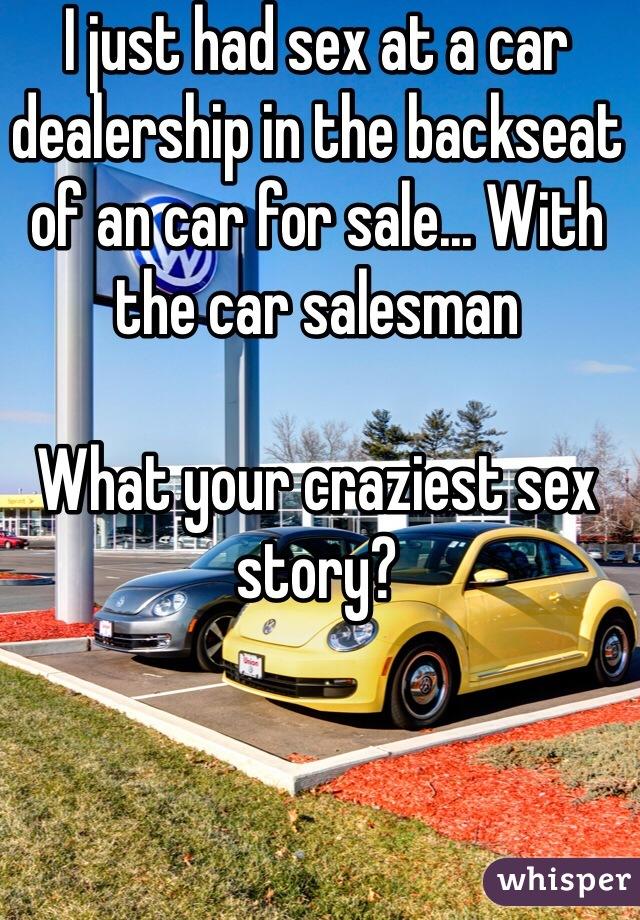 Back car seat sex story