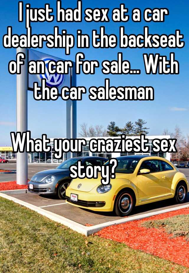 Sex in a car story useful