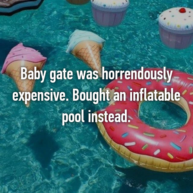 Baby gate was horrendously expensive. Bought an inflatable pool instead.