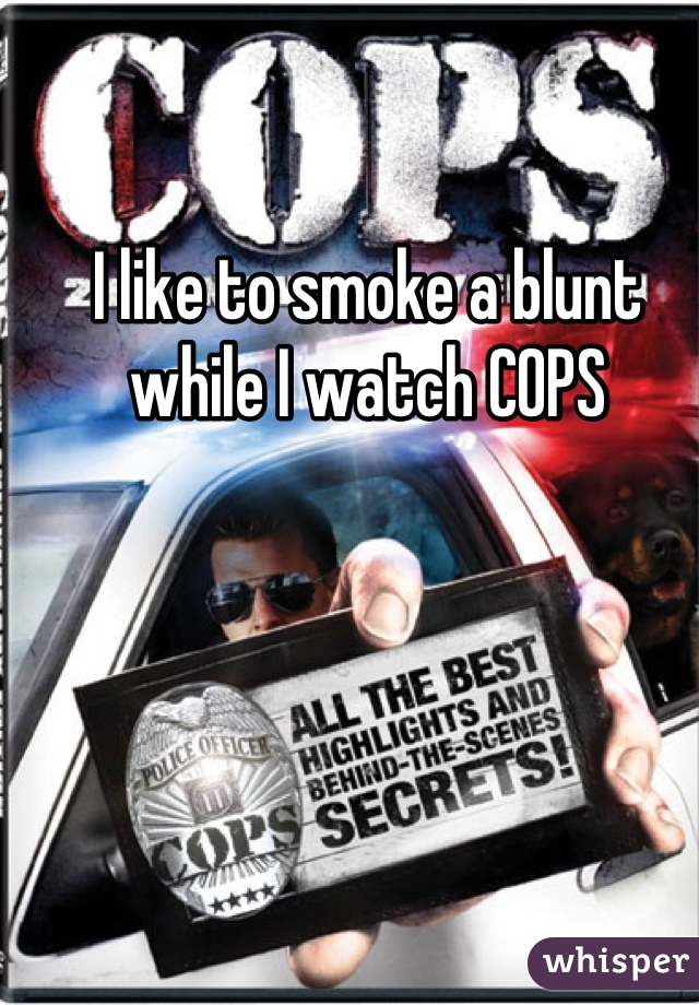 I like to smoke a blunt while I watch COPS