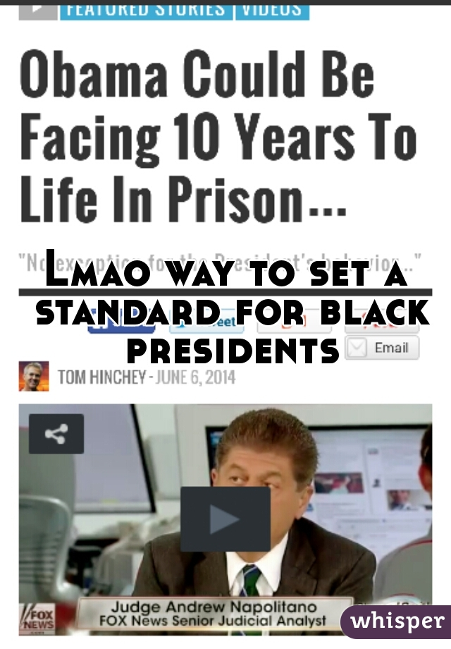 Lmao way to set a standard for black presidents