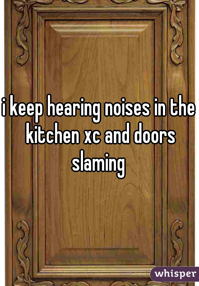 i keep hearing noises in the kitchen xc and doors slaming