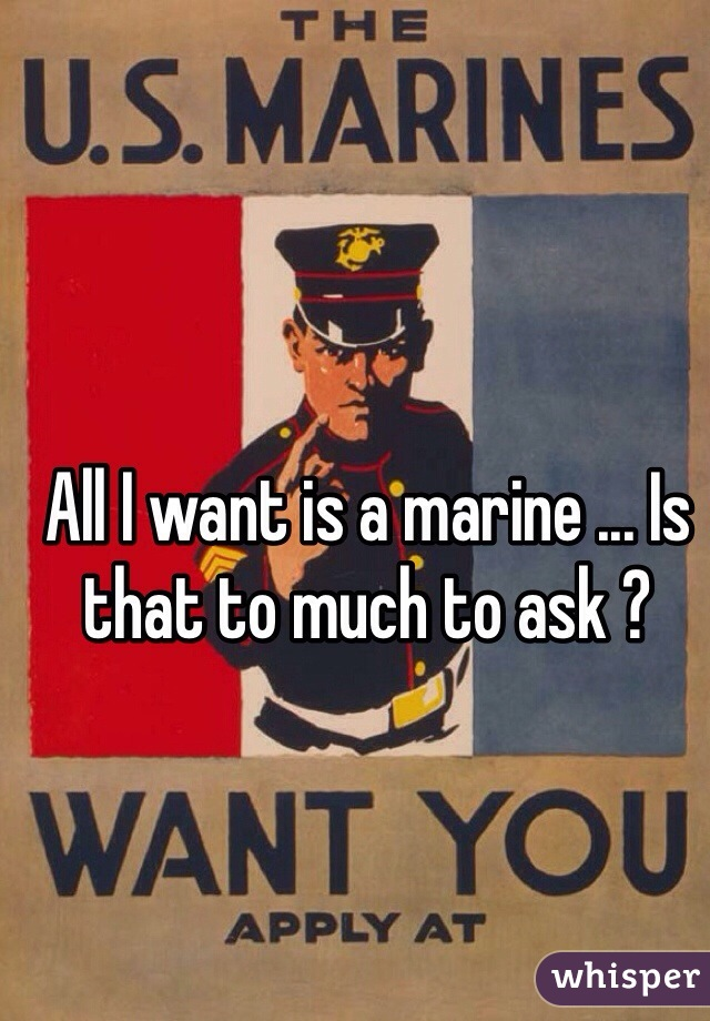 All I want is a marine ... Is that to much to ask ?