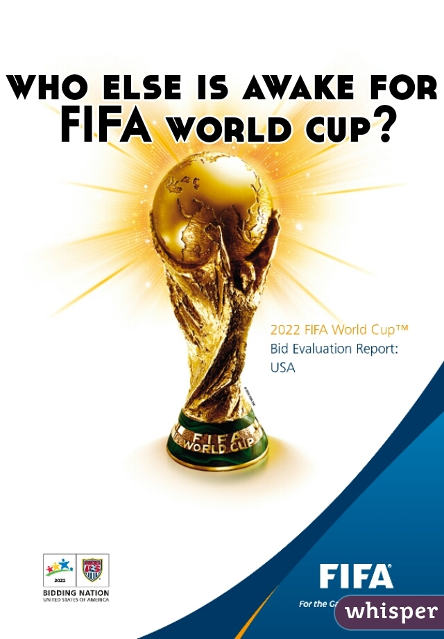 who else is awake for FIFA world cup?