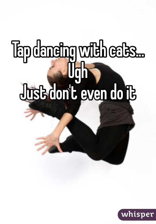 Tap dancing with cats... Ugh Just don't even do it