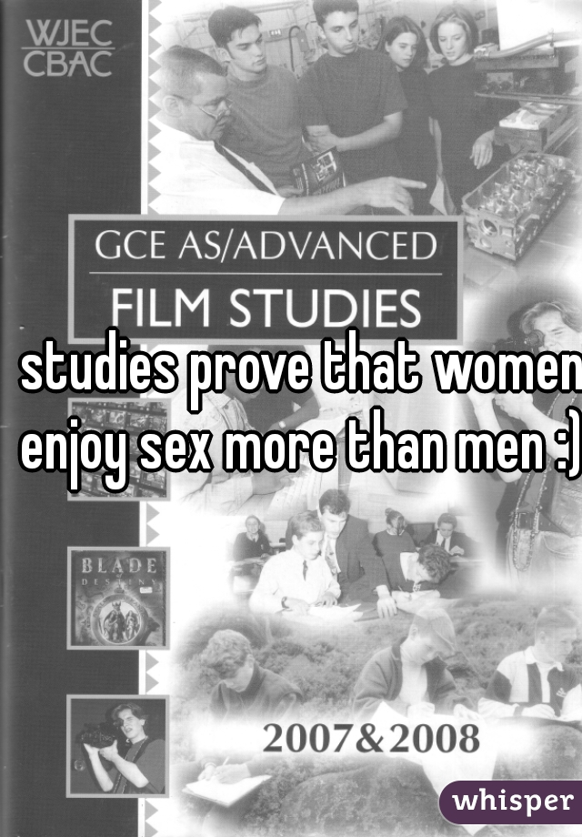 Who enjoys sex more man or woman