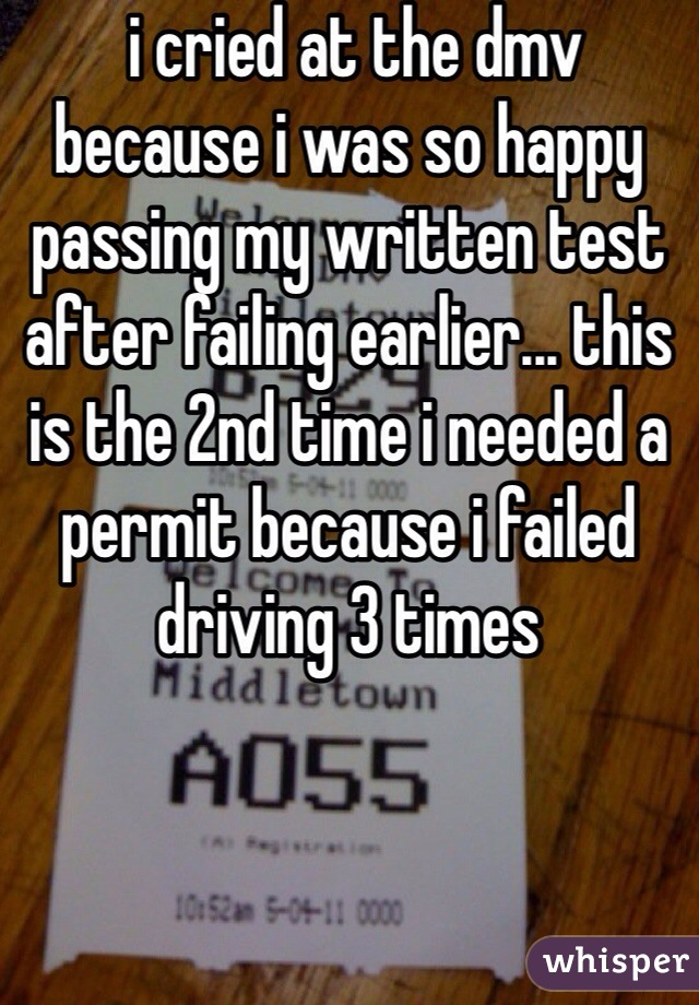 failed drivers test 10 times